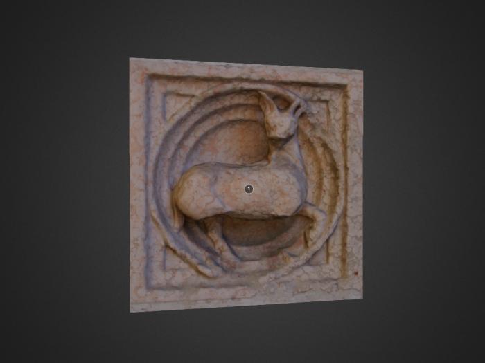 Zooforo di Benedetto Antelami (n. 50) a Parma: capro