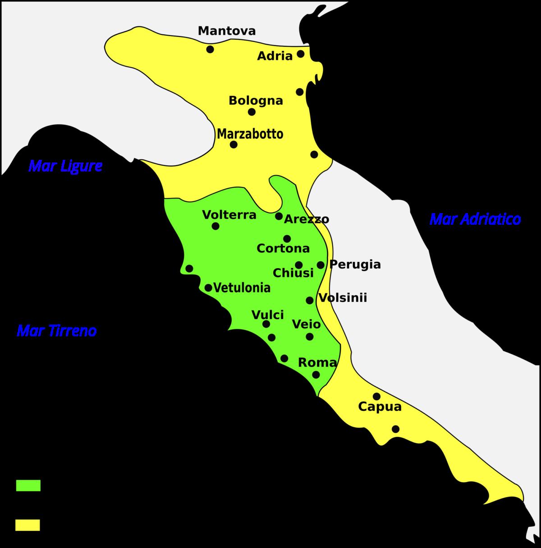 Cartina Dell Italia Al Tempo Degli Etruschi.1 Etruschi Tra Grecia E Oriente 3d Virtual Museum