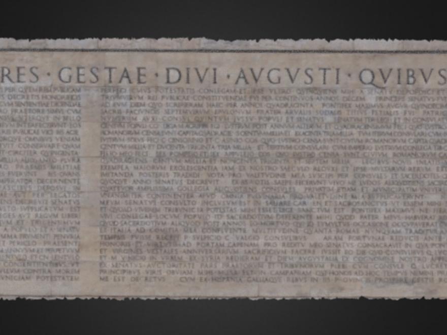 3d virtual museum il museo virtuale del patrimonio culturale italiano - Res gestae divi augusti pdf ...