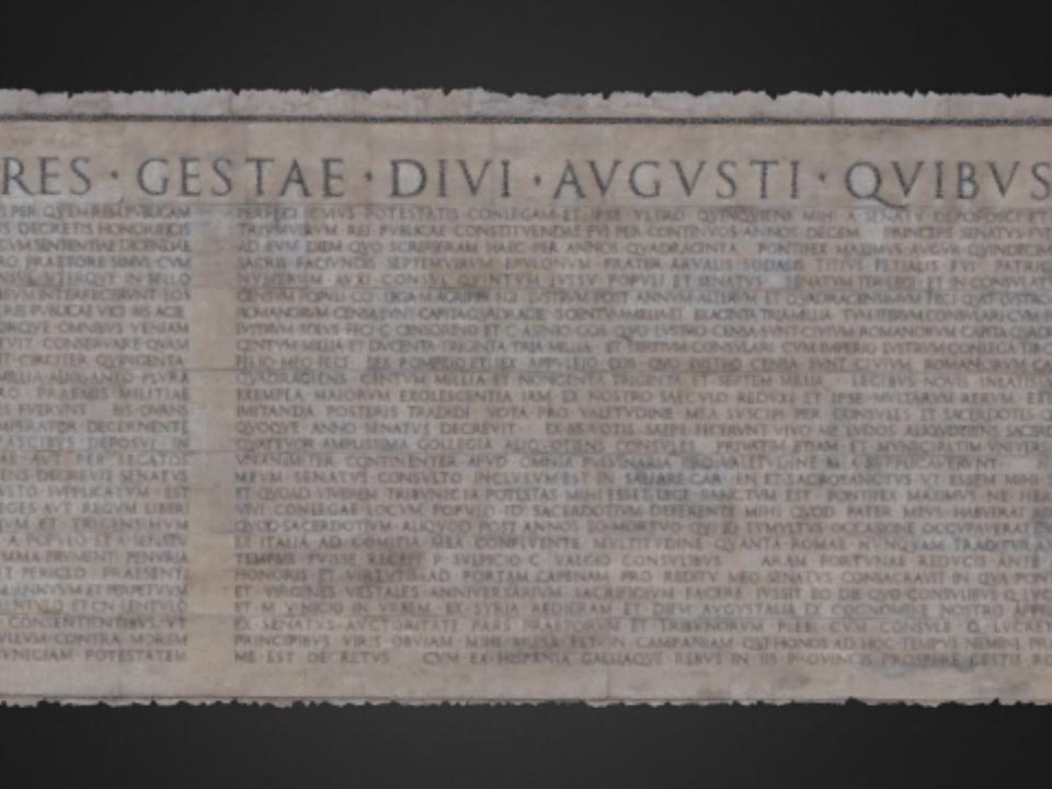 Res gestae divi augusti 3d virtual museum - Res gestae divi augusti ...