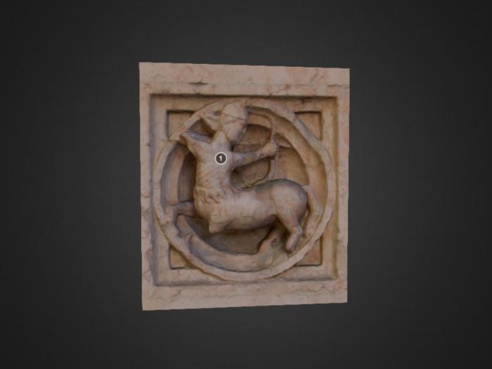 Zooforo di Benedetto Antelami (n. 66) a Parma: centauro
