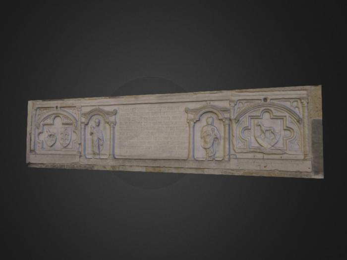 Lastra tombale di Biagio Pelacani nel Duomo di Parma